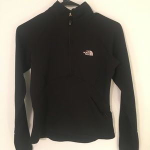 North Face Black quarter zip jacket